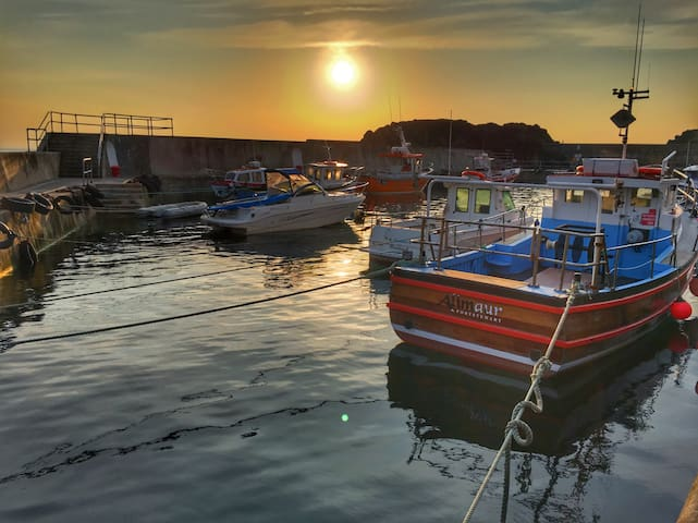 Portstewart harbour, 5 minute stroll from the apartment