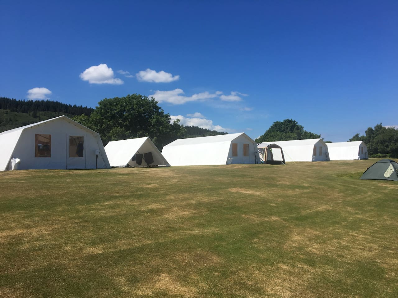 Standard Shieling Tents and drying tent.