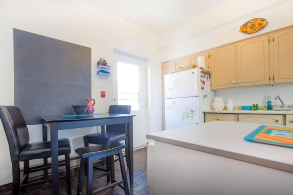 Kitchen, featuring breakfast items in the morning, coffee & tea available to make too!