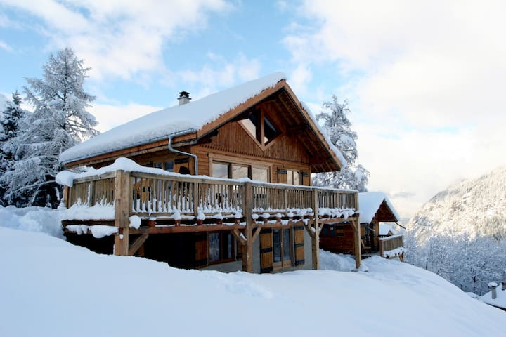 Charming ski in ski out chalet w. unrivaled views.