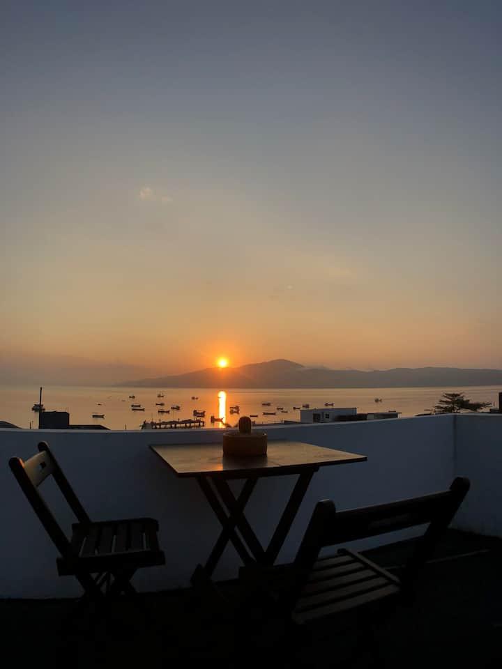 Apartamento terraço vista para o mar