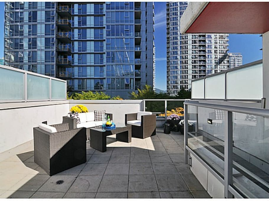 Private Rooftop patio