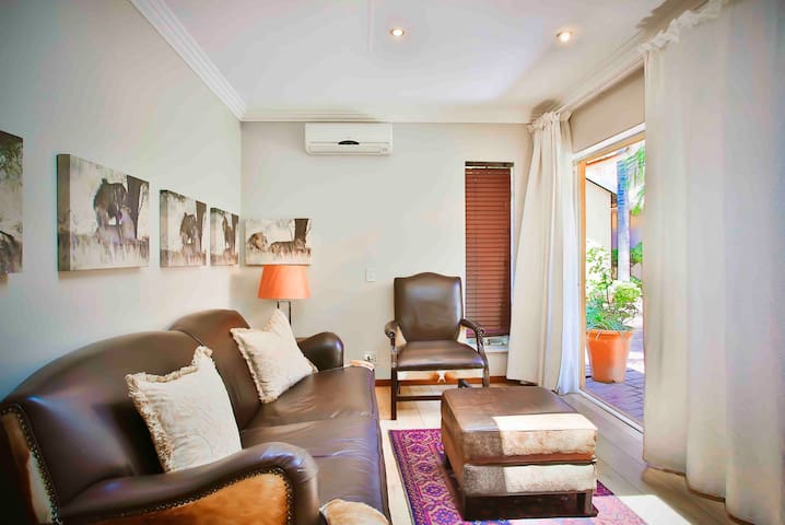 Lounge with full DSTV and airconditioning