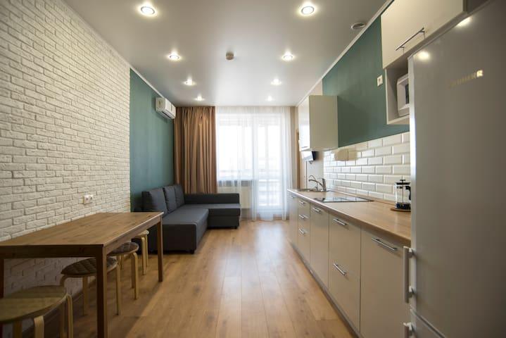 Апартаменты с гостиной и 2 спальнями.Вид на Кремль - Kasan - Wohnung