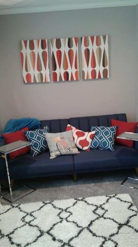Downstairs den/futon