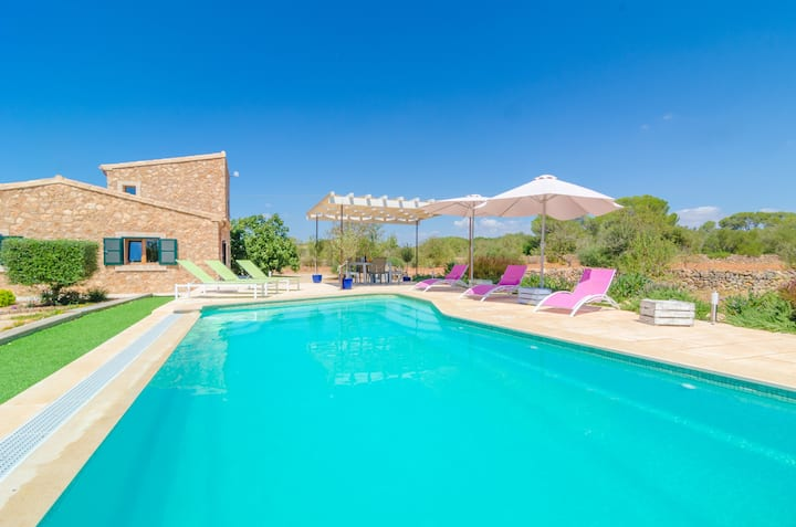 CAN XESQUET (PLETA MORELL) - Villa with private pool in Ses Salines. Free WiFi