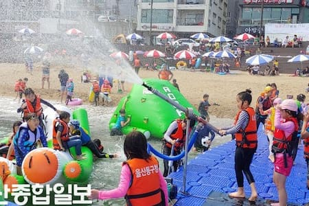 Bangeojin Seaside Apartment 가족여행지 beach front