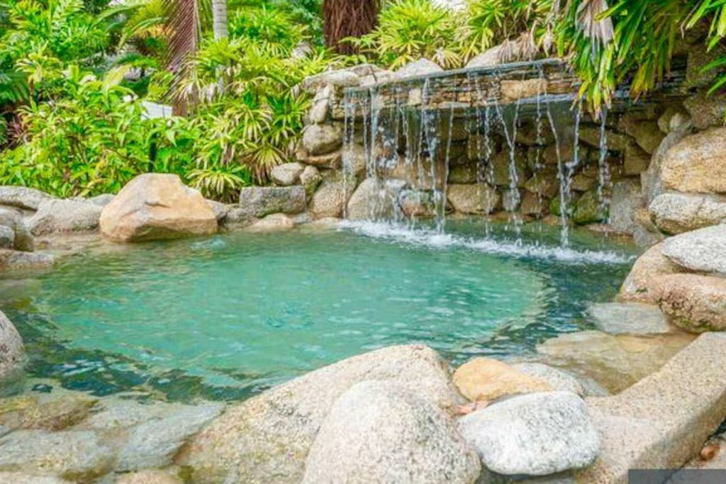 Water rock pool in second pool area kids absolutely love this area !