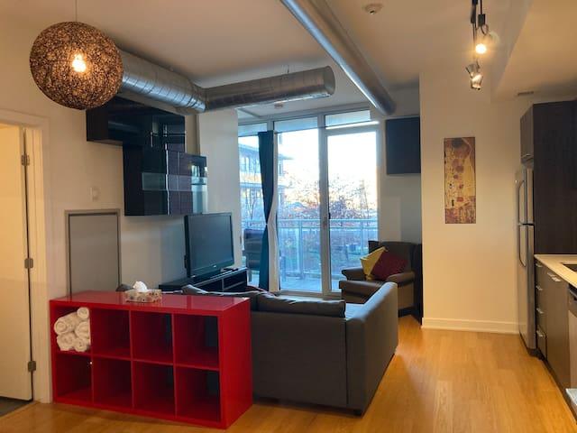 Longterm Rental Dwntwn Zen Modern Condo Balcony 