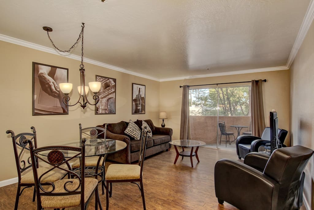 The home is nestled in the gated Casa Requena community.