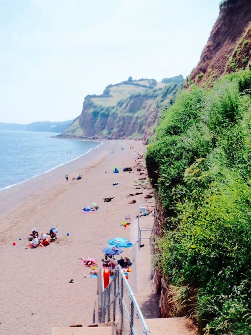 The splendid Shaldon beach (accessed by a smugglers tunnel)
