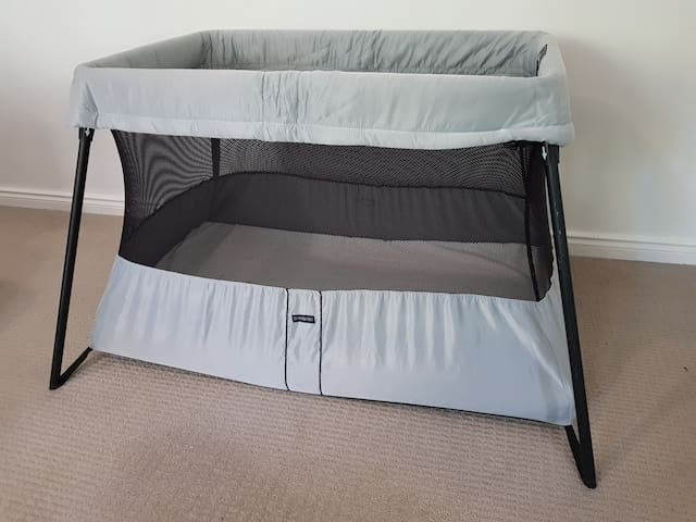 Baby Bjorn travel cot & King Single Air Bed also available if requested.