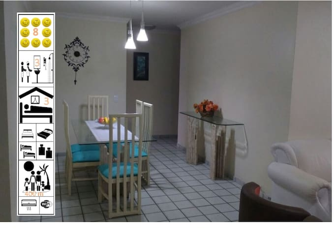 Maceio beach, 110m², 3 bedrooms fully equiped. - Maceió - Apartment