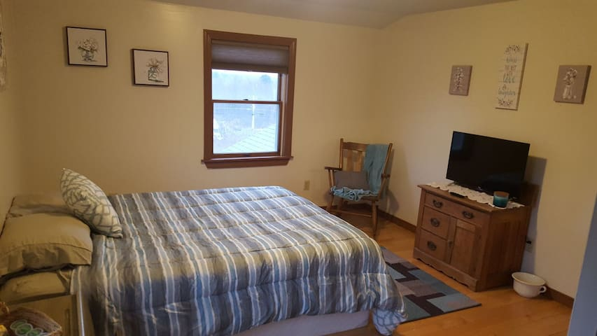 Upstairs bedroom in a country setting