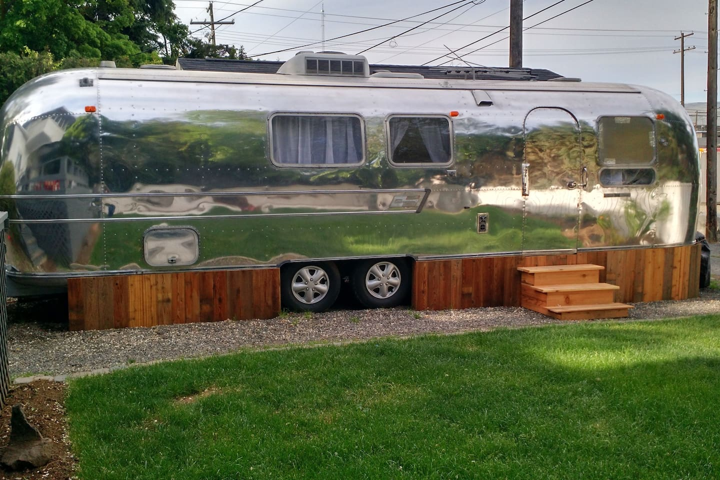Newly renovated 1969 Airstream on beautifully landscaped property.