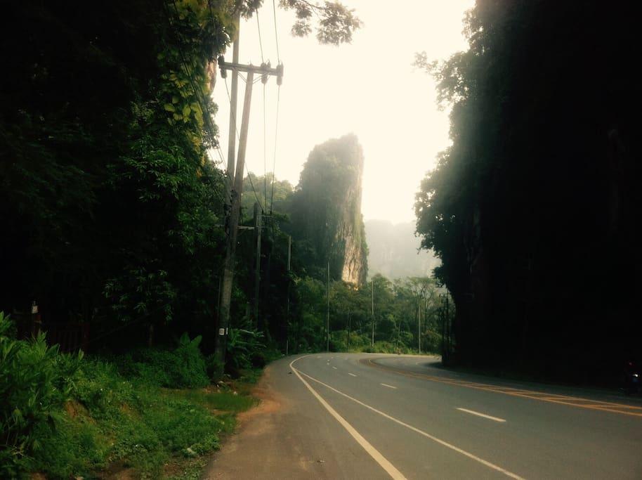 Mountain road near the house