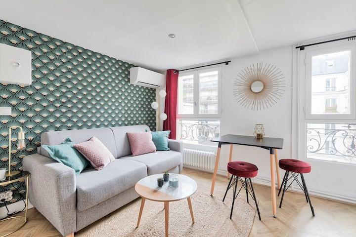 ♥ Appartement d'architecte proche Arc Triomphe -2P