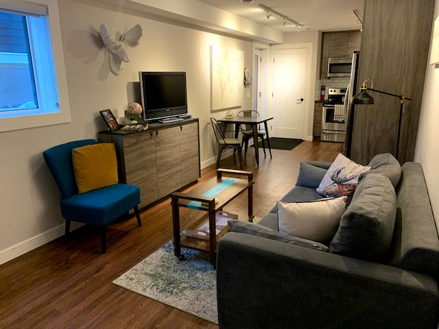 The Bow Modern Suite- KIDS FREE, 1 Bdrm + pullout