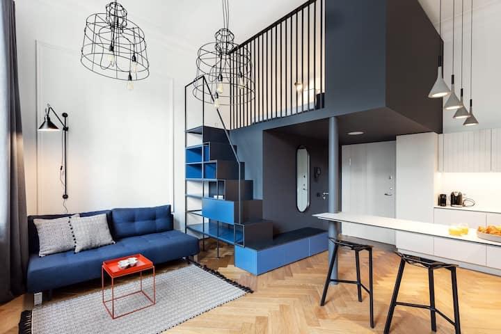 Telegrafas Lofts Centre of Kaunas - Blue Loft