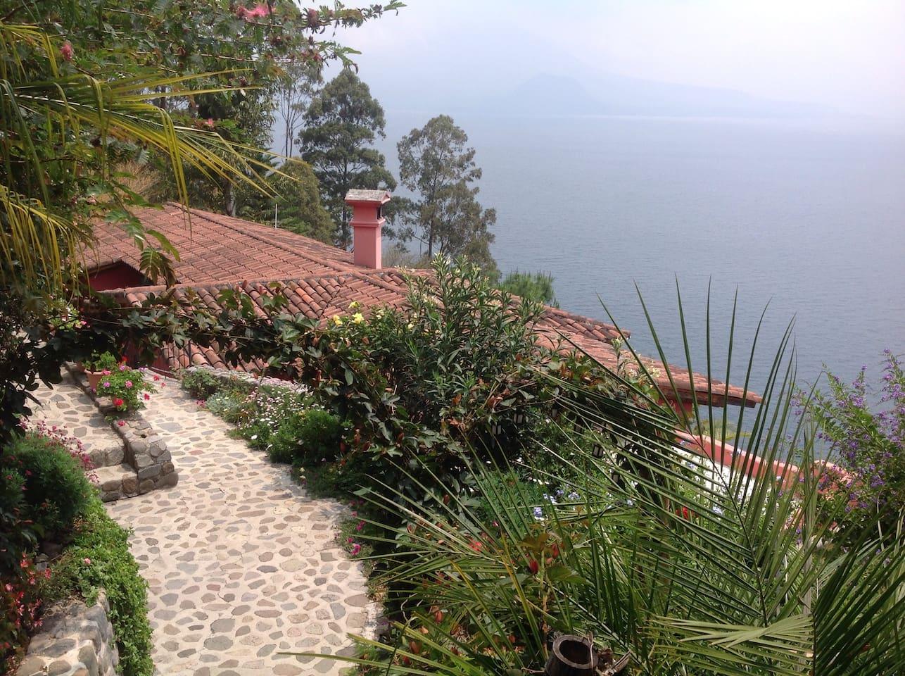 The house facing Lake Atitlan