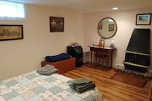 Large, spacious, and eclectic Room, Private Bath