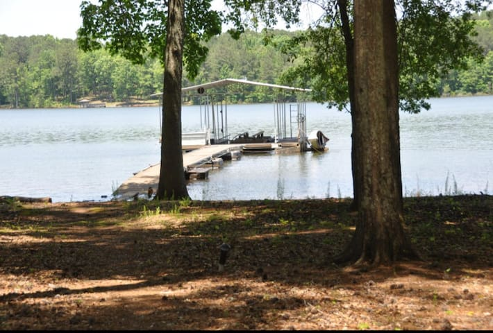 Just a few steps from your back porch to your beautiful dock
