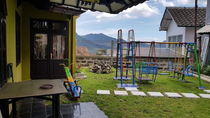 A Huge Villa with Kids Playground and Trampoline