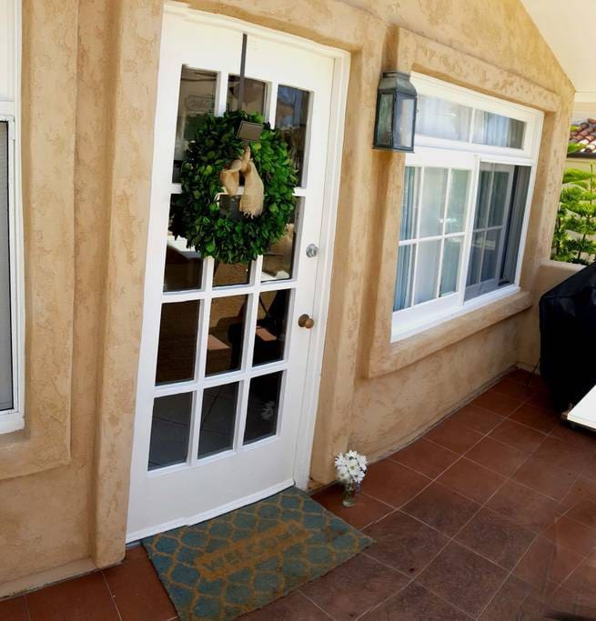 Charming French wood windows make this a darling rental