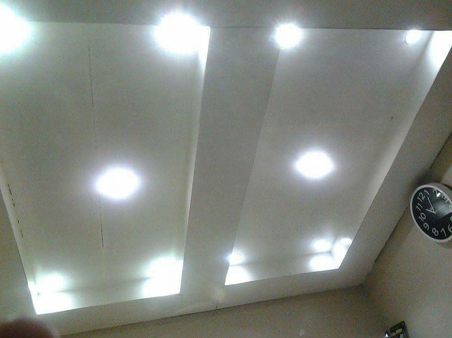 This is the type of lights in the house from the sala, kitchen, bedroom, and bathroom.