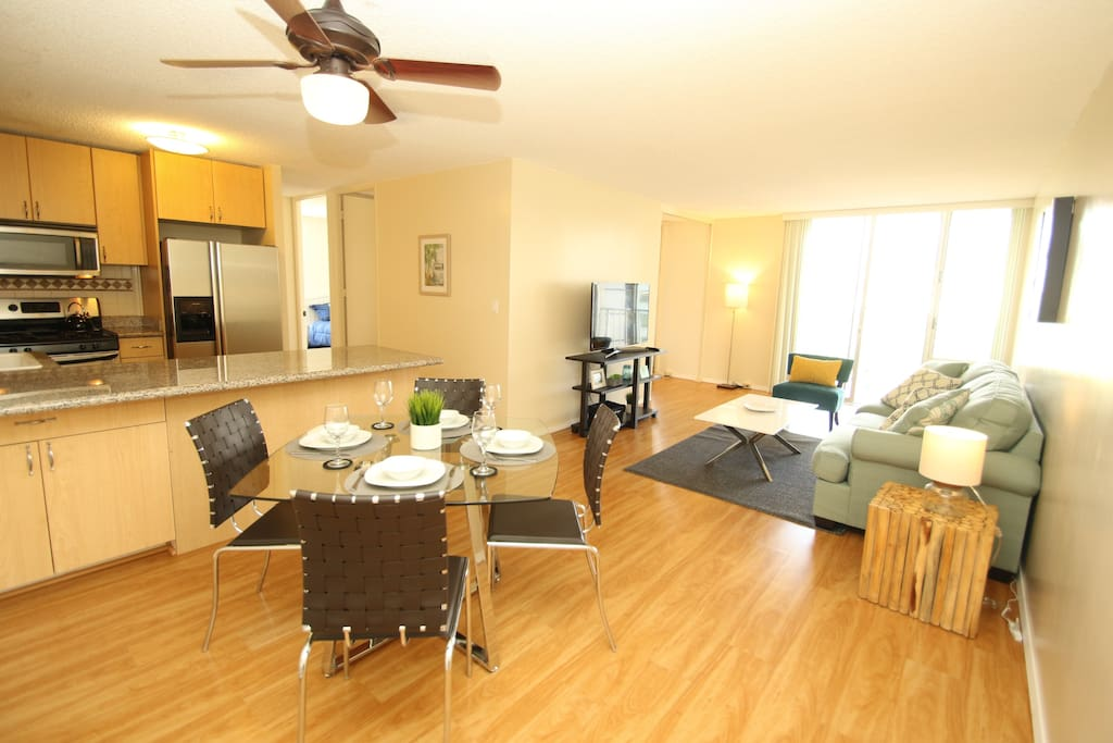 Very Spacious & Bright Living Room. Comfortable Space to Spend Time with your Family & Friends.