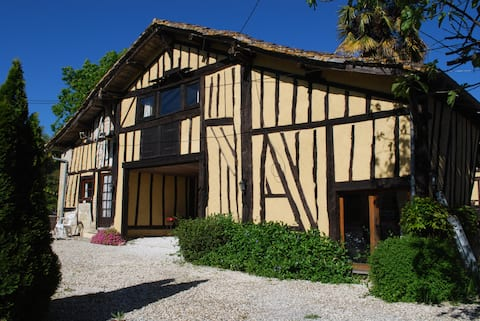 South West France gite for two shared pool