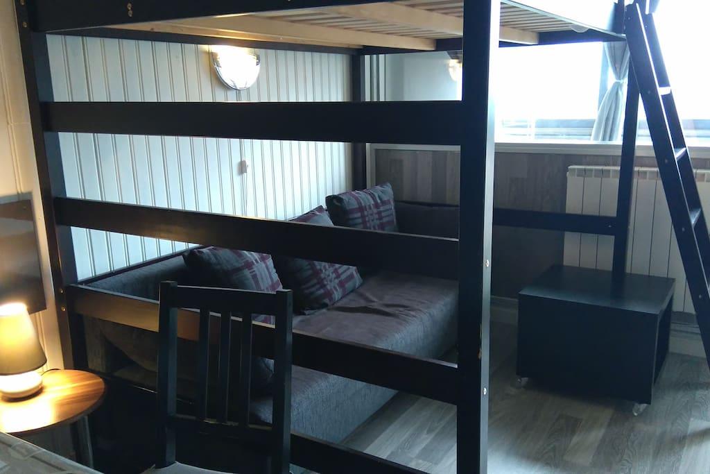 Canapé lit et lit mezzanine