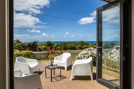 Your beachfront summer. Blue skies and sea views!