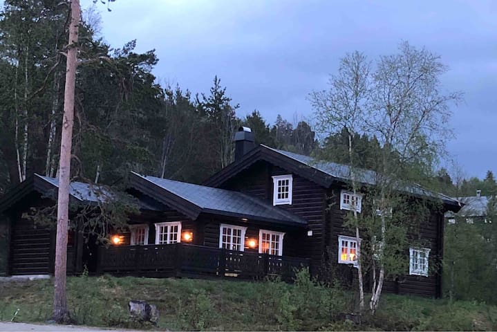 Ny stor tømmerhytte, med god plass til 8 personer.