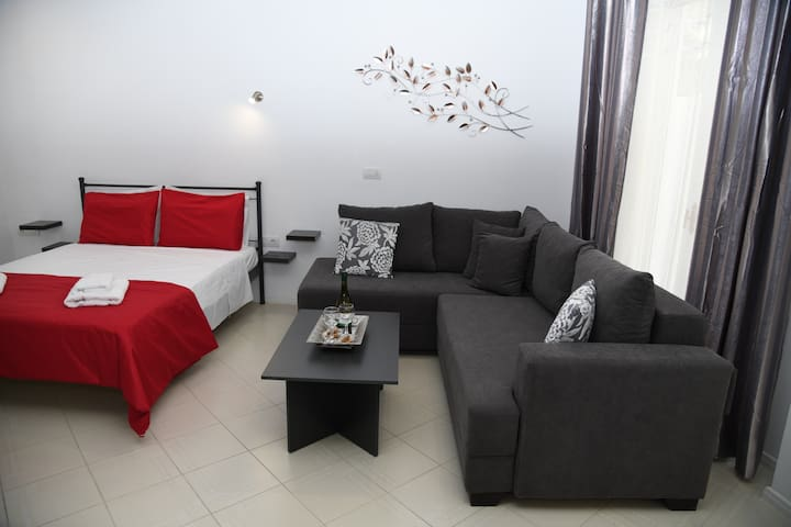 Double bed and sofa-bed