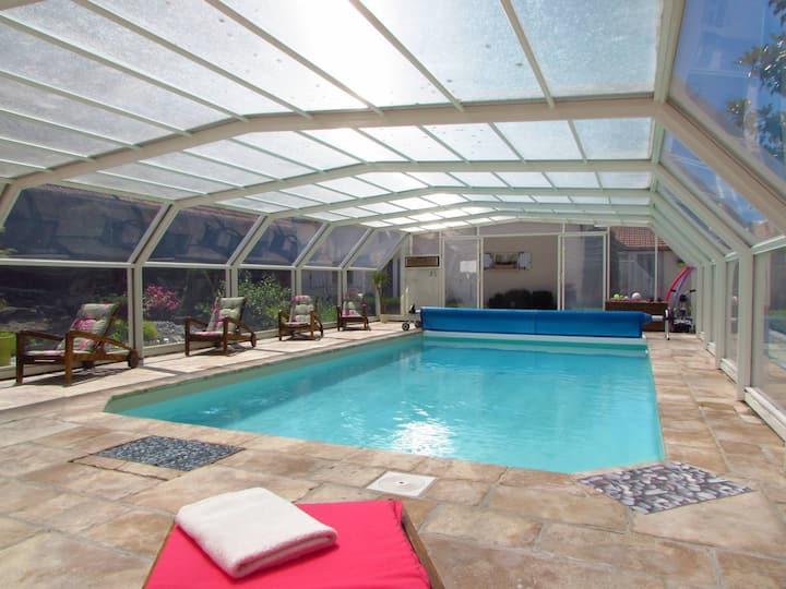 Gite avec piscine chauffée toute l'année