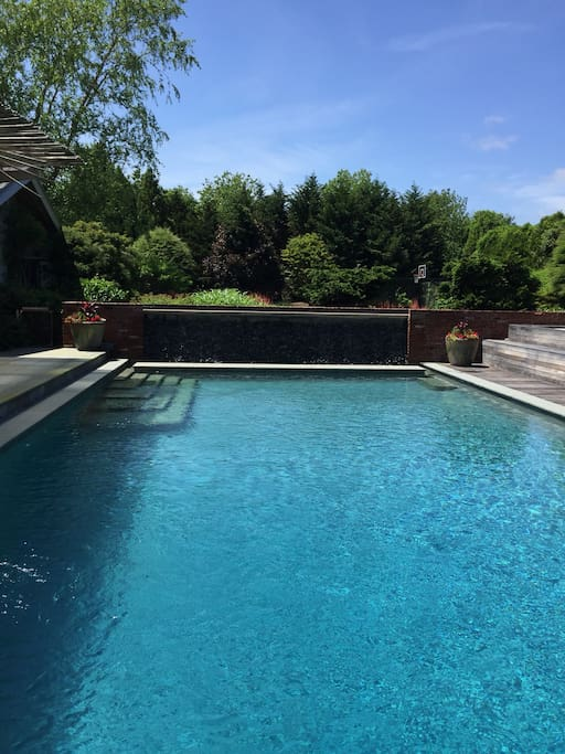 Oversize Granite Pool with Waterfall