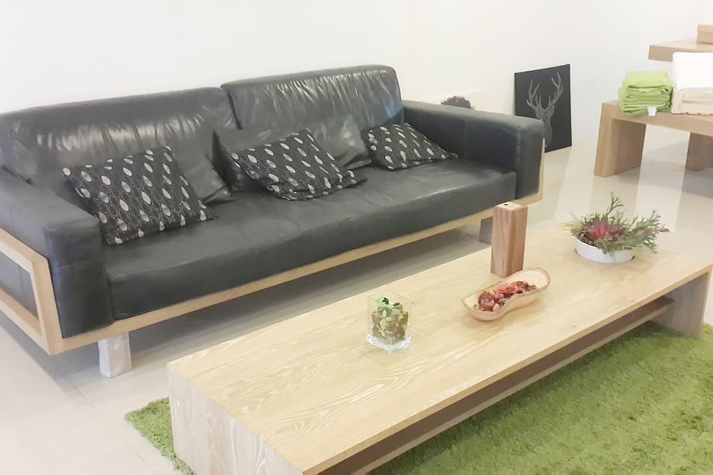 Luxy sofa & cute carpet