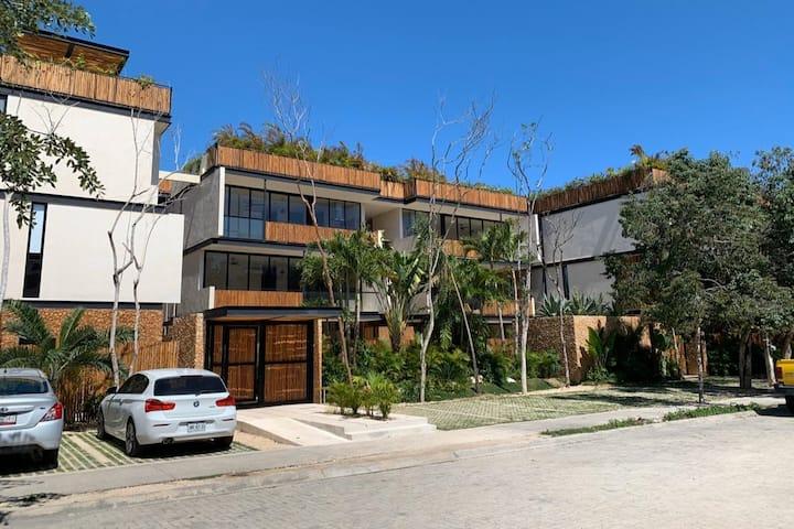 Beautiful condo in Aldea Zama with private jacuzzi
