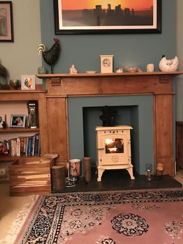 wood burner for those chilly nights