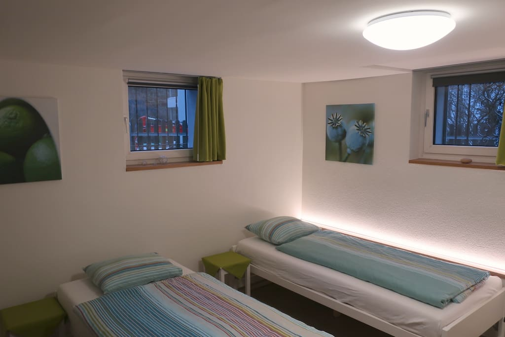Here we have the room set up with twin beds. Just let us know, what you prefer.