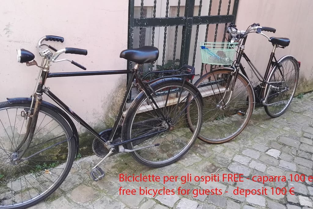 Biciclette per gli ospiti FREE - caparra 100 euro free bicycles for guests -  deposit 100 €