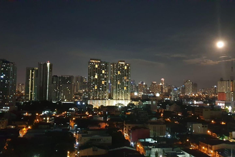 Makati City Skyline viewed from the room's balcony