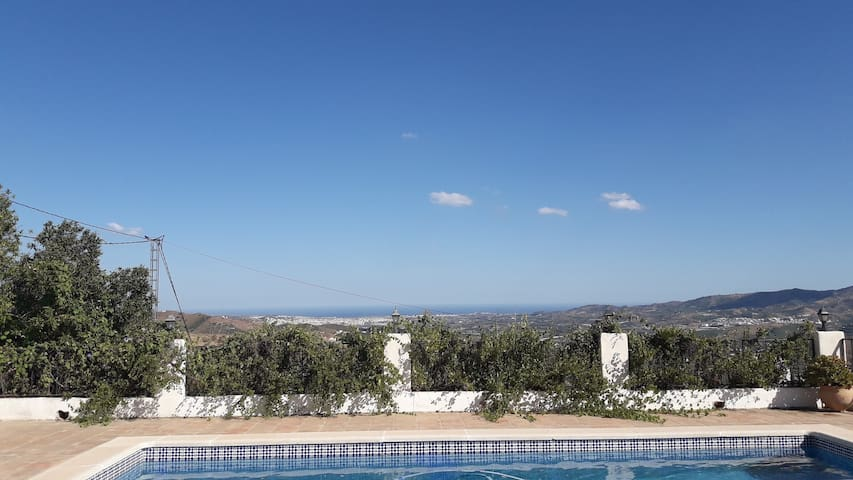 Family Villa with great views down to coast