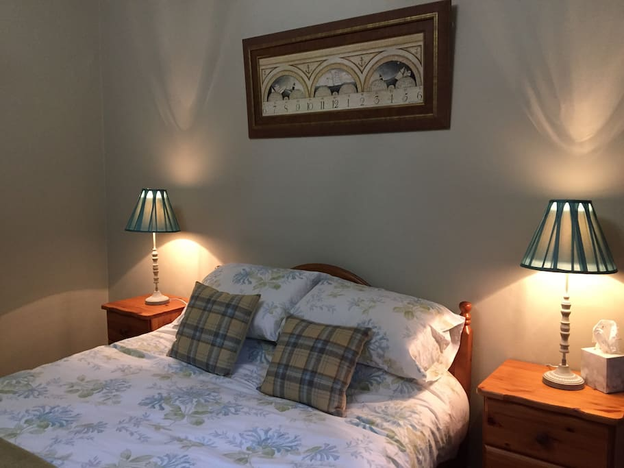 Lovely comfy king size bed in what can only be described as a huge bedroom !