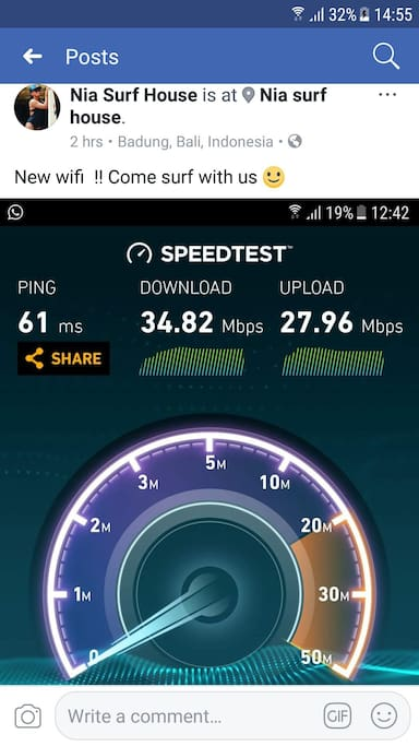 speed internet at nia surfhouse