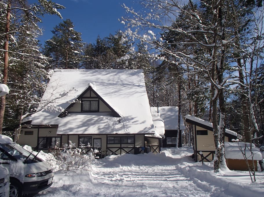 our lodge in winter