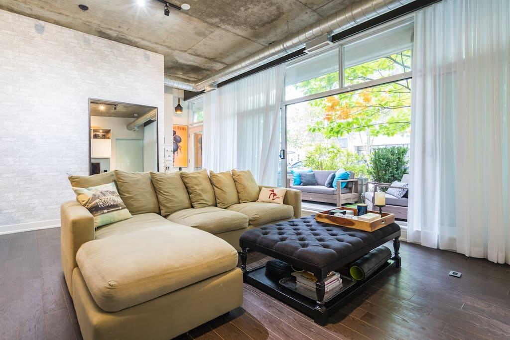 Walkout to large furnished patio on ground floor