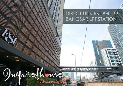 KL Sentral, EST Bangsar#1,LRT, 3pax,Sanitized loft