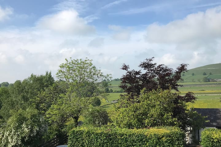 View from the cottage (Bedroom 1) in summer